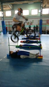 Momento exhibición trial bike